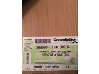 Creamfields 3 day xamping