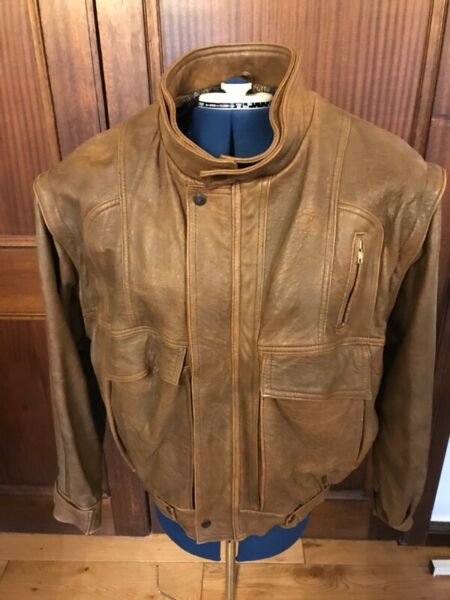 Original Vintage 80's Leather Jacket