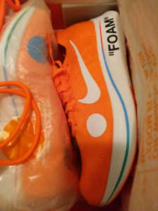 Nike Off White Zoom Fly Mercurial Flyknit Orange size 10