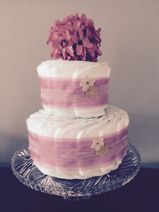 Dusky Pink Diaper Cake Collection by Ava May Diaper Cake Co. London Ontario image 2