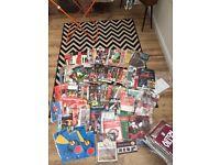 Over 250 football programmes 60s-now Man U vintage joblot