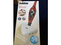 Beldray 5 in 1 Multifunctional Steam Cleaner - Red