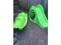 Children's seesaw and slide