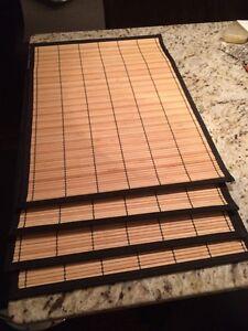 Bamboo place mats (set of 4)