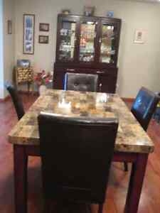 China Cabinet & Dining Table/Chairs SET