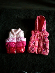 Warm girl toddler vests