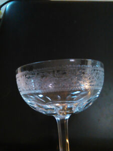 Victorian Crystal champagne glasses early 1900's set of 7
