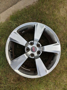 "Set of 18"" rims with STI center caps.  5x114.3 bolt pattern."