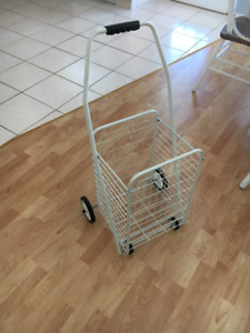 Durable white wire shopping cart
