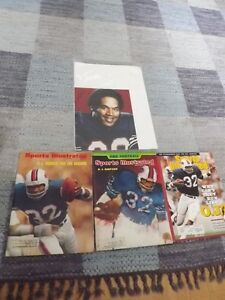 5 OJ SIMPSON COLLECTORS ITEMS:3 MAGAZINES+2 PICTURES-PHOTOS