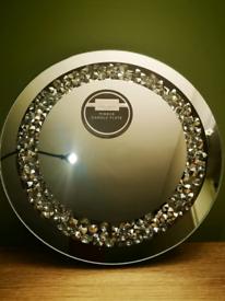 NEW Karen Bailey circle Diamonte mirror plate.