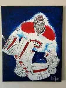 Carey price, peinture de collection du canadiens de Montréal.