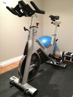 Star Trac Spinner NXT spin bike with computer monitor