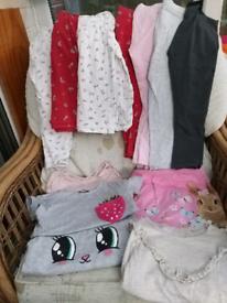 Girls bundle 5-6 years leggings, dresses, pj Next / TU / H&M 13 items