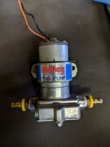 Holley Blue Electric Fuel Pump and filter housing for sale