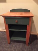 Bedside table - IKEA Solid pine with green