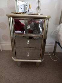 Next mirrored bedside cabinets