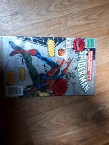 Old comic books in plastic