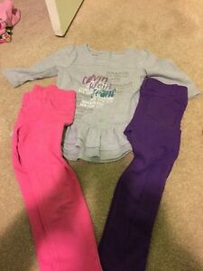 Calvin Klein shirt and 2 pants 4T