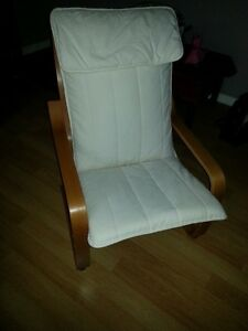 White Poang chair, good condition, smoke free home, $40