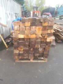 Timber posts.