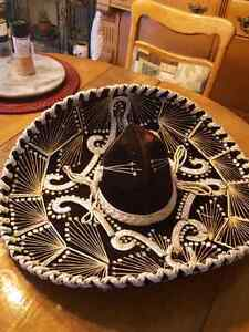 Mexican style Hat Gold threads.