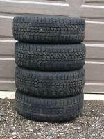 4 Used Firestone Winterforce Snow Tires and Rims