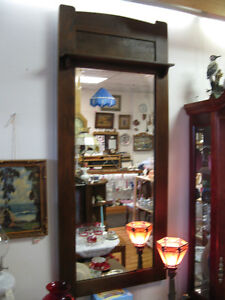 Oak Mirror -- FROM PAST TIMES Antiques & Coll - 1178 Albert St