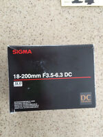 Sigma 18-200mm F3.5-6.3 DC Lens For Sale!!