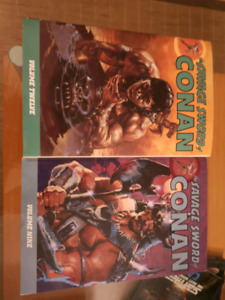 Savage Sword of Conan 9 and 12