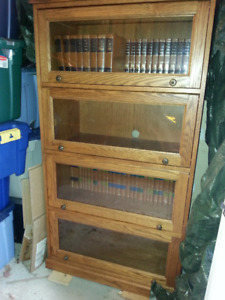 Solid Oak Barrister Bookcase