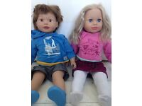 Sam and dally dolls 43cm