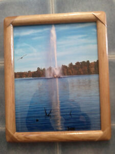 "8x10""Peterborough Little Lake fountain Photo in Wood/glass frame"