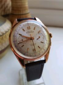 Vintage mens swiss emperor chronograph watch 38mm landeron 248