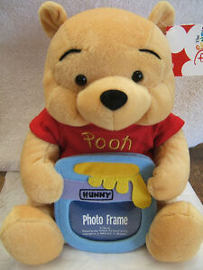 Disney-Winnie-The-Pooh Plush Photo-Frame Doll - New with Tags