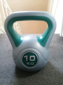 Kettlebell set 10kg, 6kg, 4kg. Home Gym fitness weight training