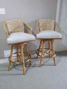 McGuire Furniture - Heavy duty swivel bar stools - Price Reduced