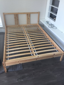 Twin/Full Bed Frame and Mattress - $200