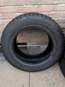 Four Bridgestone Blizzak Winter Tires (265/60R18)