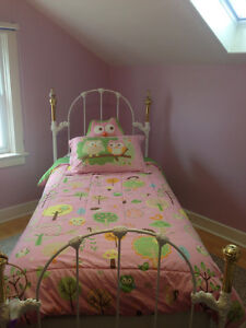 Beautiful single iron bed with mattresses
