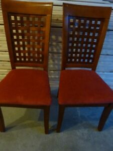 Two pairs nice chairs
