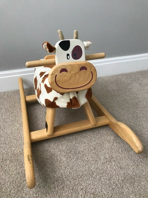 Kids lovely wooden Rocking Cow
