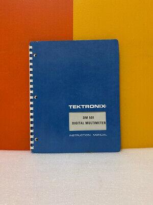 Tektronix 070-1446-00 Dm 501 Digital Multimeter Instruction Manual