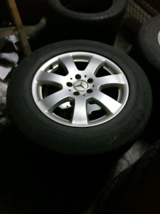 """4 used 17"""" OEM  Mercedes - Benz Mags"""