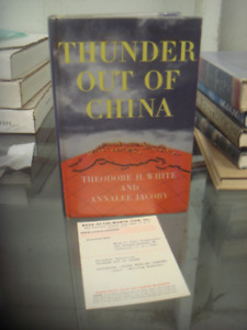 Vintage Book 1946 Thunder Out Of China Theodore H. White