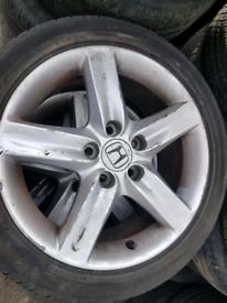 Honda civic alloy wheels rim with tyre 17 inch