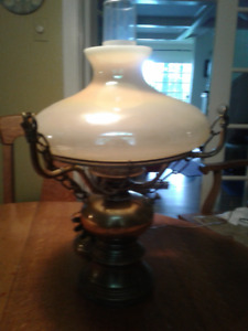 Hurricane Lamp Solid Brass