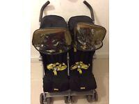 Maclaren Double Pushchair/ Buggy/ Stroller
