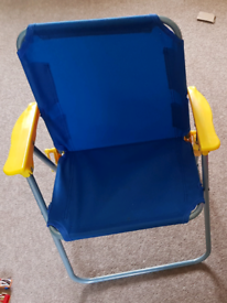Kids chair, foldable, blue