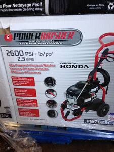 Honda and power plus gas pressure washers